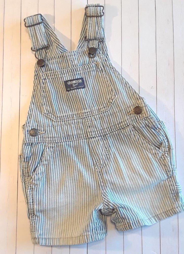 Oshkosh Baby Boy 9 Month White Vestbak Shortalls!! Clothing, Shoes & Accessories Baby & Toddler Clothing
