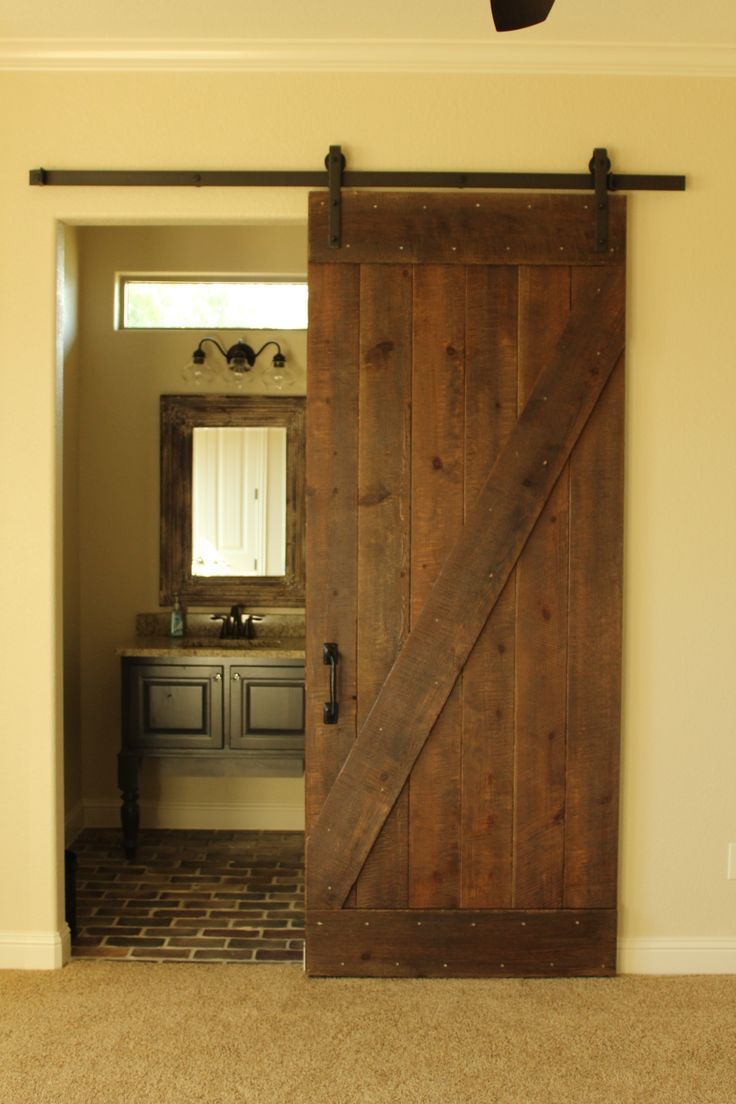 Add something special to your master bedroom with a custom sliding barn door made by Green Valley BTC.