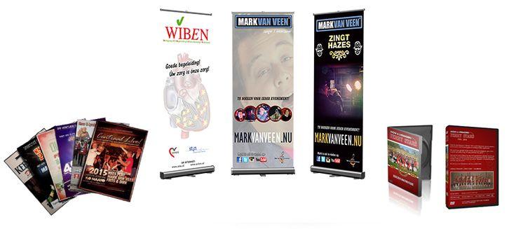 Van Veen Art & Design kan ook al uw promotiemateriaal verzorgen (zowel ontwerp als drukwerk!). Denk hierbij aan UNIEKE fotokaarten, visitekaartjes, spandoeken, roll-up banners, flyers, posters, etc.  Dit alles tegen zéér scherpe tarieven!
