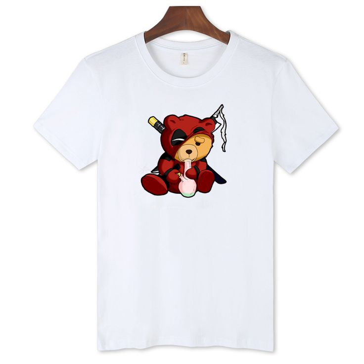 >> Click to Buy << Black/White 3XL Teddy in Deadpool T-shirt Men 2017 Summer with Dead Pool T Shirt Men Brand Famous in Gray Cotton Tees XXS #Affiliate