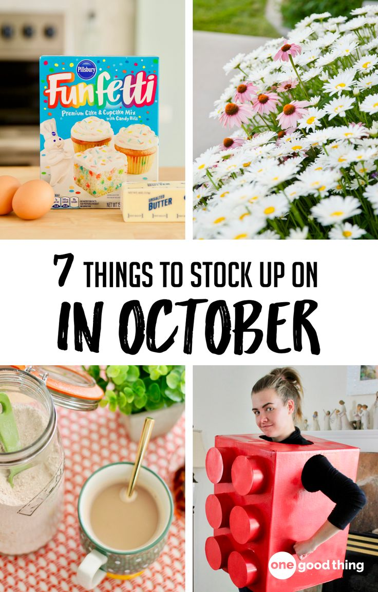 7 Things You'll Want To Stock Up On In October in 2020