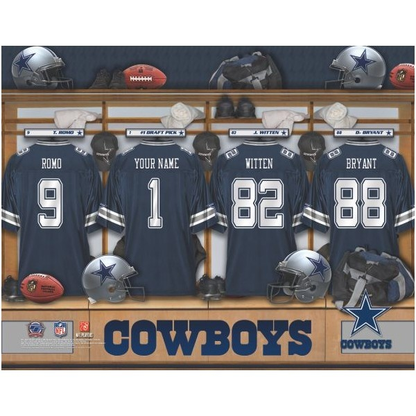 Cowboy Football Bedrooms | ... Licensed By The NFL Dallas Cowboys  Personalized Locker Room