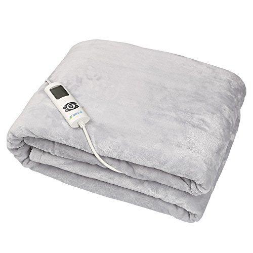Couverture Chauffante électrique lavable Yatek de toucher Super confortable et gris, avec 180 x 130 cm et 160 W de puissance, douce au…