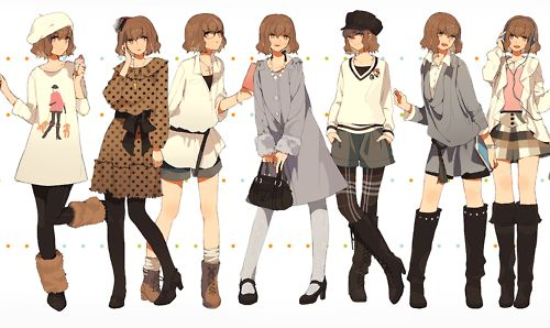 anime, outfits