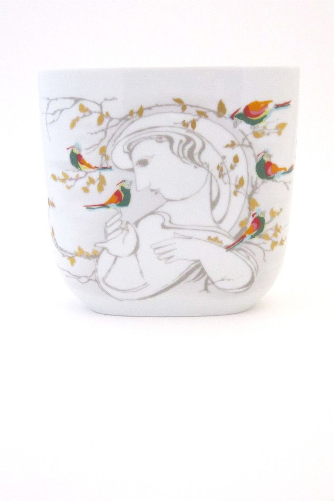 Bjorn Wiinblad For Rosenthal Woman And Birds Vase Mid