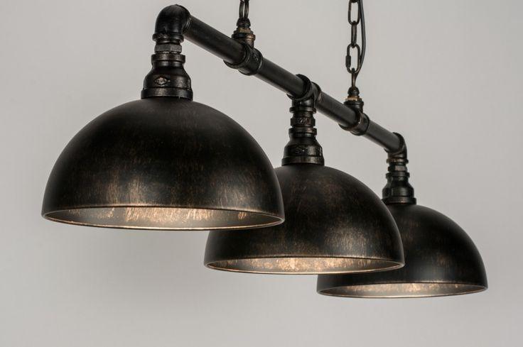 Hanglamp 10363: Klassiek, Industrie, Look, Roest