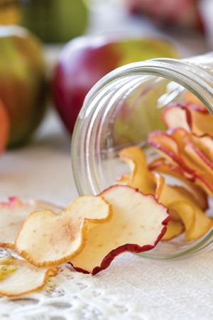 Crips Apple Chips by The Cottage Journal. Even better than store bought chips!!