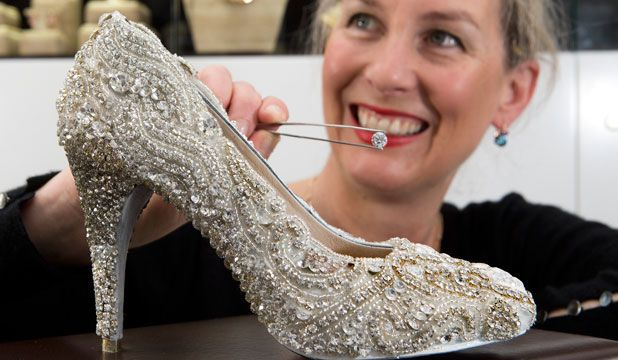 New Zealand shoe designer Kathryn Wilson and Sarah Hutchings of Orsini Fine Jewelry. the look is complete with a pair of dazzling diamond high heels, featuring over a half million in diamonds these shoes ring in at $500,000.