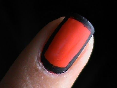 Border nails tutorial - NEW technique - how to do border nails manicure to  border nail art designs