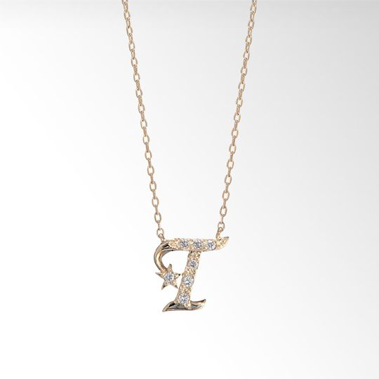 diamond halo initial diamond halo initial pendant necklace mozeypictures Image collections