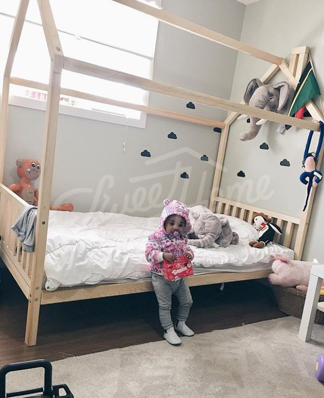 Kids Teepee Children Bed House Or Toddler House Bed Frame Etsy