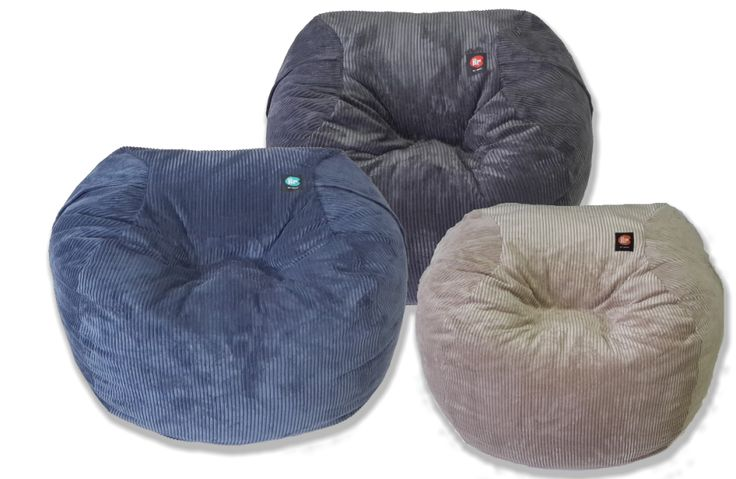 Rich corduroy beanbags - Adult sized