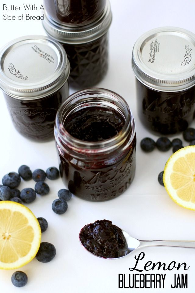 Lemon Blueberry Jam~ it's INCREDIBLE! The bit of lemon really brings out the fresh, sweet flavor of the blueberries. A #recipe from…