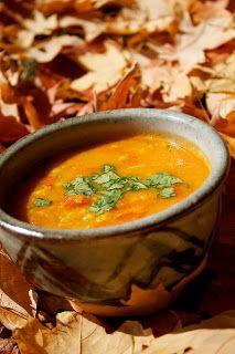 Harira - Moroccan Bean Soup (chickpeas/lentils, shallots, saffron strands, turmeric, ginger, tomatoes, chicken stock/water, tomato paste, cilantro, parsley, brown rice flour, lemon, butter)