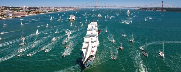 The Ultimate #Sailing in #Portugal: The Tall Ships Races Lisboa - via Sea Bookings 28.04.2016 | From the 22nd to the 25th of July Lisbon will become the capital of sailing while welcoming this event. Photo: The Tall Ships Races Lisboa