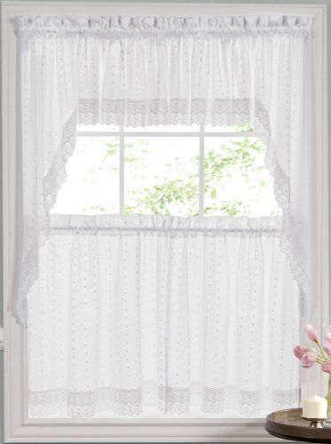 "Ribbon Eyelet 36"" Tier Curtain - White by Lorraine Home Fashions, http://www.amazon.com/dp/B0012ZXHDO/ref=cm_sw_r_pi_dp_um2trb0HE1B5R"