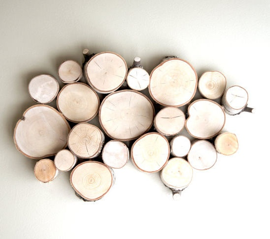 White birch wall art