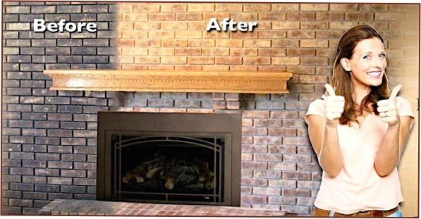how to clean brick fireplace inside house