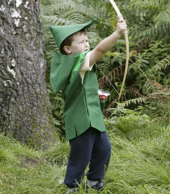 Robin Hood costume. Perhaps I can modify it so that it can also be a Peter Pan costume. Potential Christmas present!