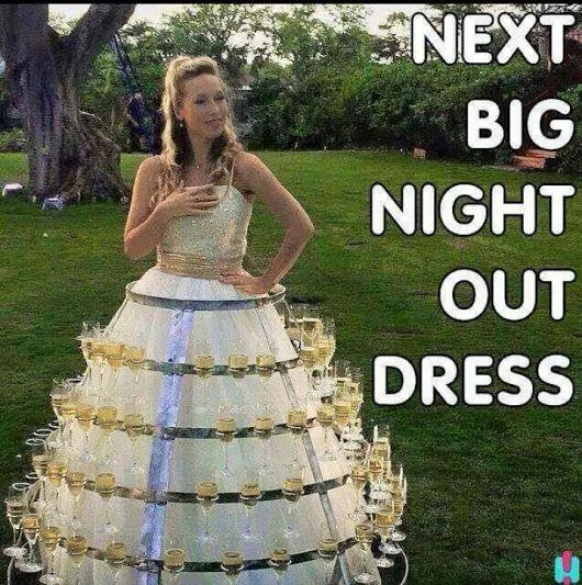 Worst Wedding Dresses Ever: Wine Wedding Dress! #WeddingPlanning #Bride