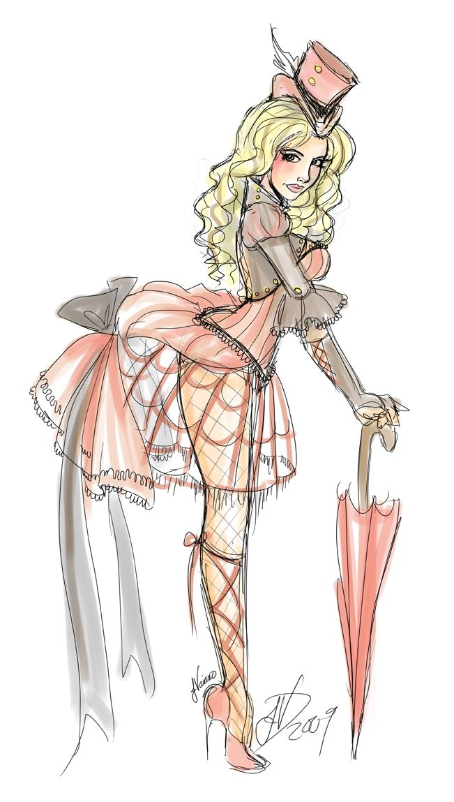 NoFlutter's sketch based on Britney's Circus video.