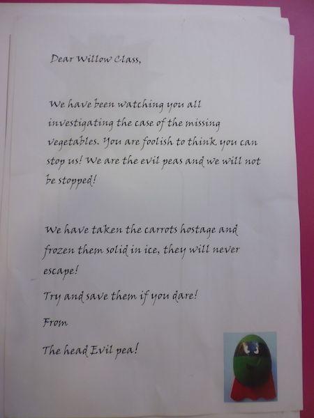 'Supertato' and 'Evil Pea' visit Willow Class! | Kenton Primary School