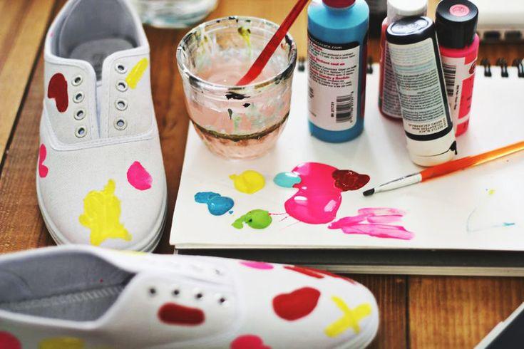 DIY Sneakers Image Via: A Beautiful Mess