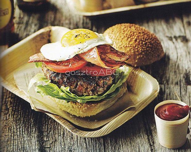 Sajtos-tojásos burger