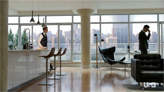 Harvey specter 39 s apartment suits does it get any better Home architecture tv show