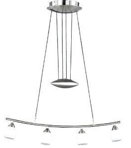 Wofi 7742.04.64.0100 132 Watt Halogen Topeka Rise and Fall Pendant, Nickel: Amazon.co.uk: Lighting