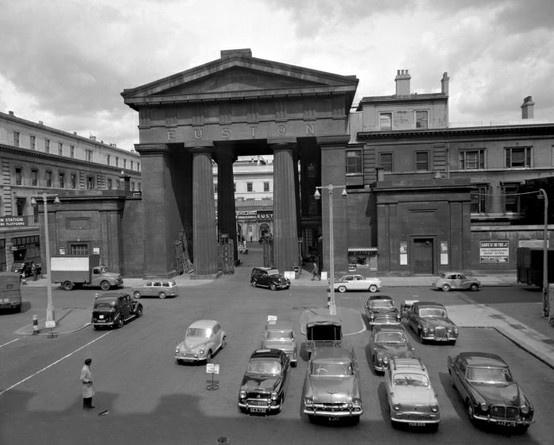 Euston Arch, London. 1961.