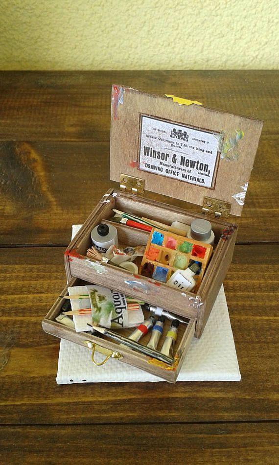 Miniature dolls house in scala 1:12 la valigetta del
