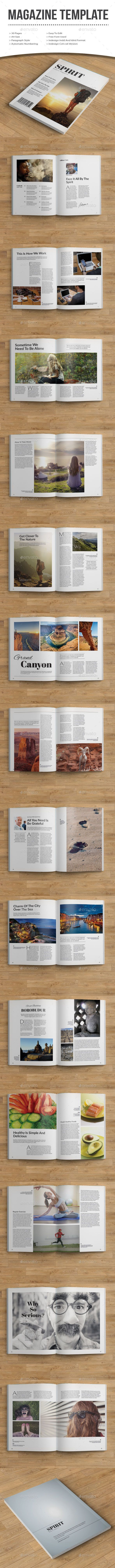 Spirit Magazine Template #design #journal Download: http://graphicriver.net/item/spirit-magazine/10731004?ref=ksioks