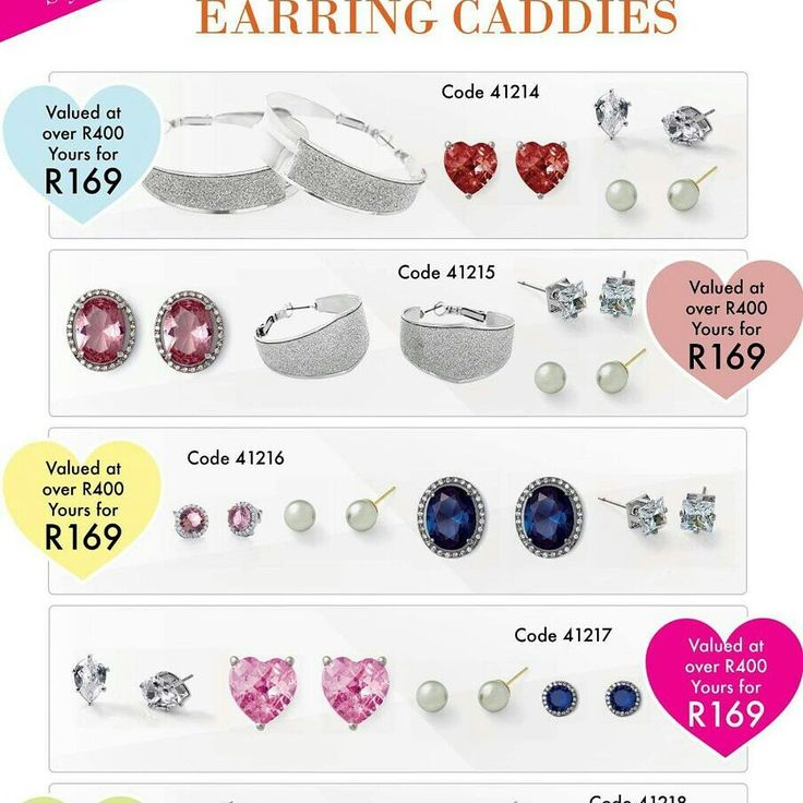 4 Pairs of earings for R169