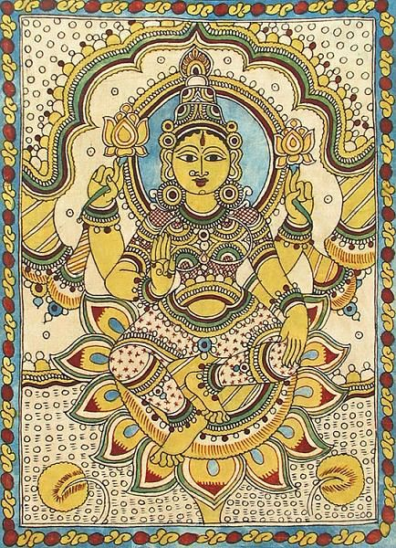 Indian Painting Styles...Kalamkari Paintings (Andhra Pradesh)-lakshmi-bv26_l.jpg