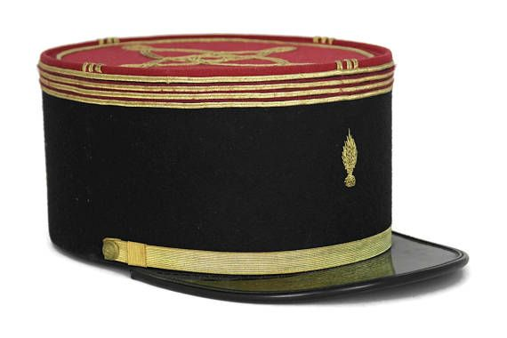 Vintage French Gendarme Hat. Army Uniform Cap Officers Hat.