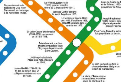 Montreal's 73 metro station names explained. Yep, I'm a metro geek...