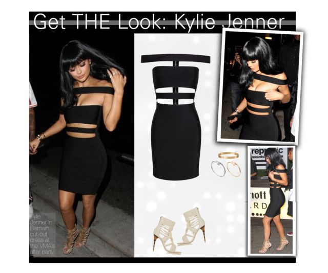 """""""Get THE Look:Kylie Jenner in Balmain Cut Out Dress"""" by mariotsala22 ❤ liked on Polyvore featuring Balmain"""
