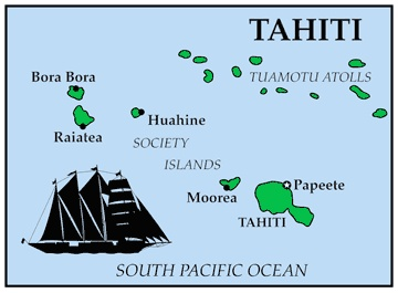 General Map of Tahiti, French Polynesia.    #Maps #travel #holiday