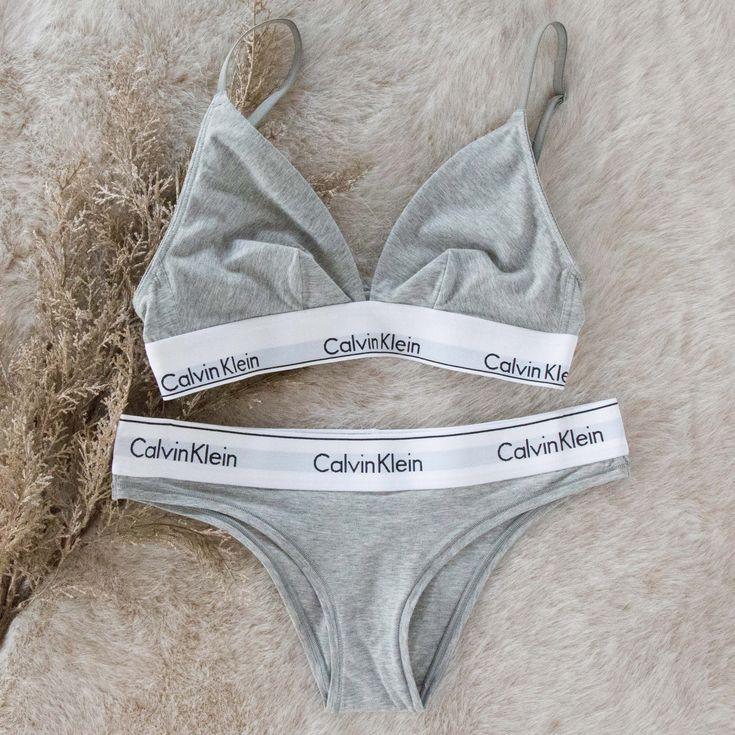 Modern Cotton Unlined Triangle Bralette – Calvin Klein
