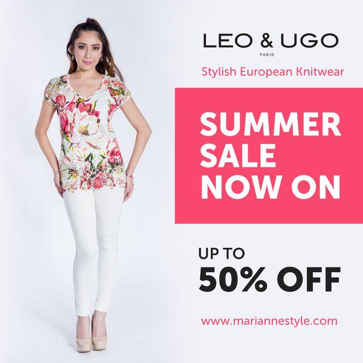 Leo Ugo Paris Summer Sale now on. High #fashion Knitwear