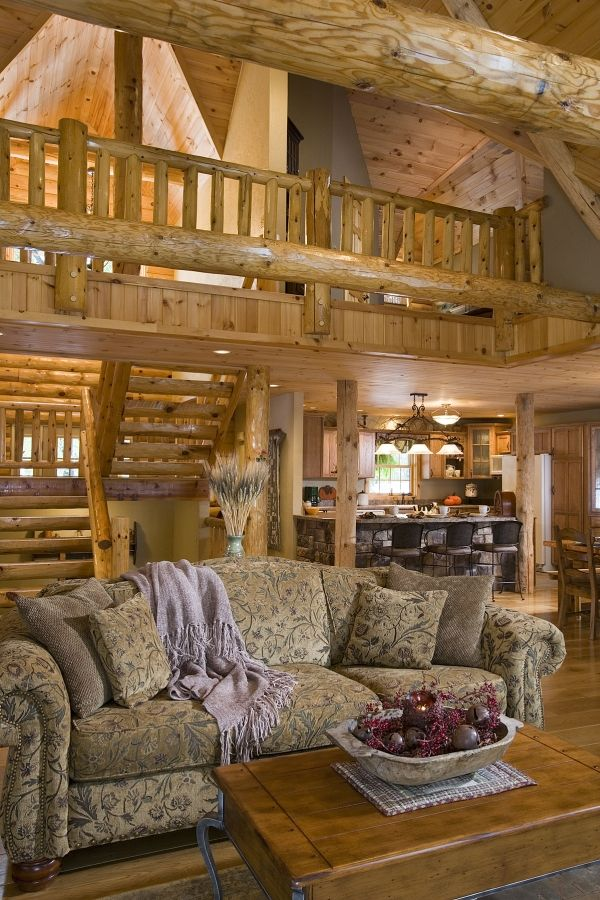 Log Home Photos | Greatrooms & Family Rooms › Expedition Log Homes, LLC