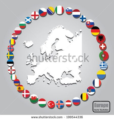 European Union country flag design. Vector illustration.