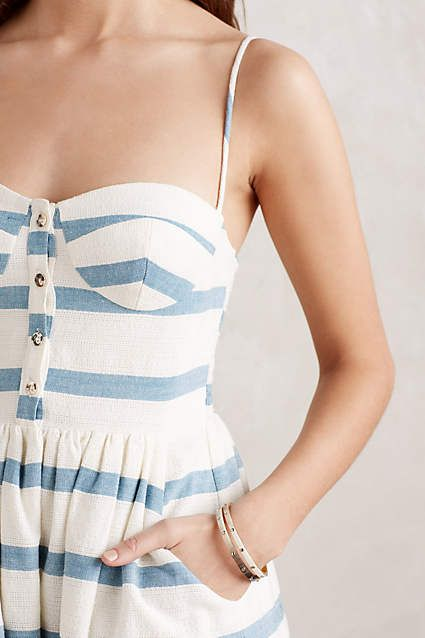 Dear Stitch Fix Stylist, Looking ahead to summer! I like the stripes, the buttons, the straps, and the fitted top of this dress.