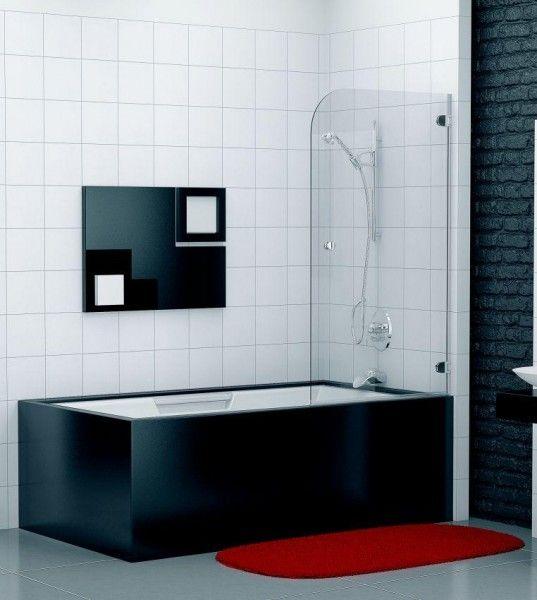 Duschabtrennung Badewanne 70 x 140 cm Duschabtrennung