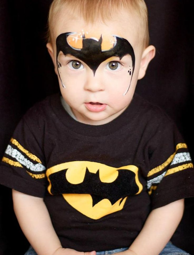 The 25 best superhero face painting ideas on pinterest facepaint ideas face painting - Maquillage simple enfant ...