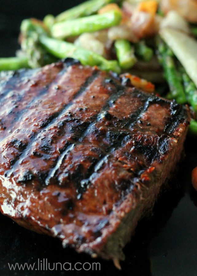 Best EVER steak marinade.  Every time we use this Steak Marinade, everyone asks for the recipe because it just THAT GOOD!  Italian Dressing, A1 Sauce, Worcestershire Sauce, Lemon Juice