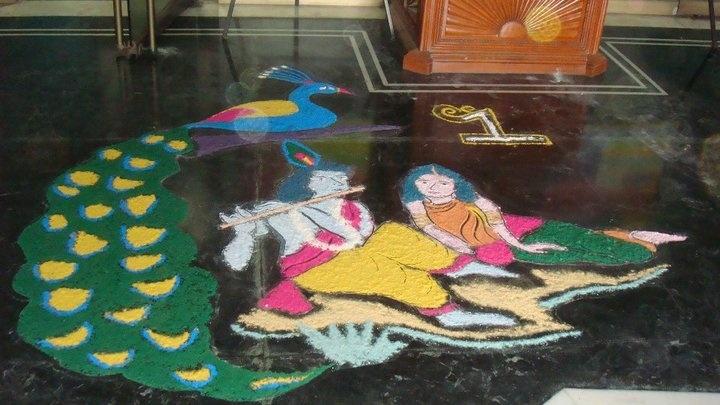 Entry by Kanika Goel(3) #Diwali #Rangoli