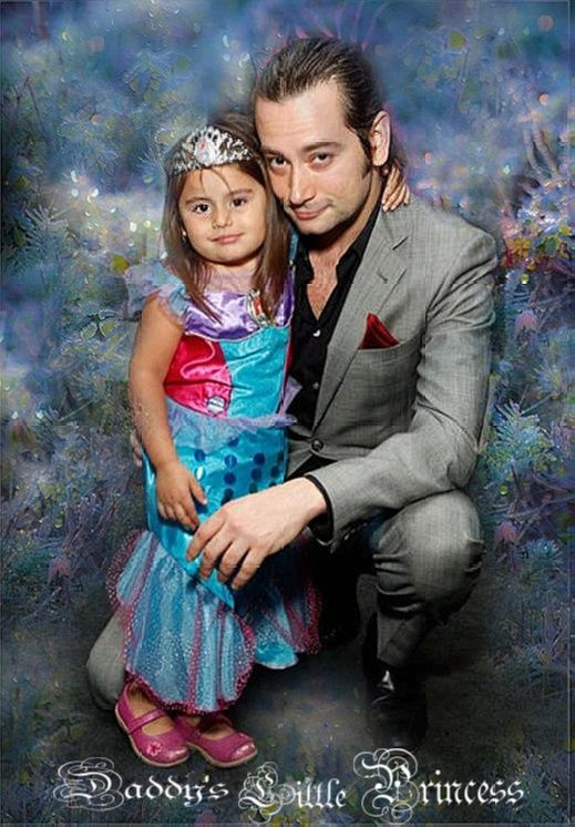 Constantine and his little girl Malena