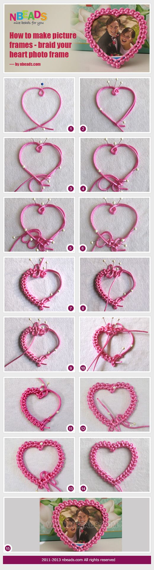 how to make picture frames - braid your heart photo frame